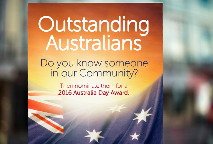 Livingstone Shire Council Australia Day poster, brochure and advertisements