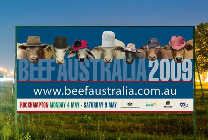 Beef Australia billboard