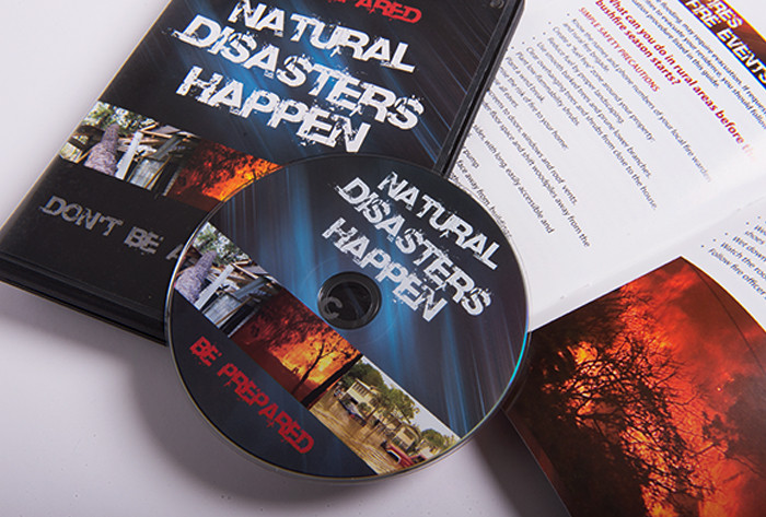 Natural Disasters Happen DVD, slick and booklet for Livingstone Shire Council
