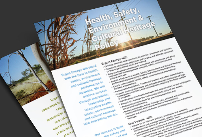 Ergon Energy Policy posters and flyers