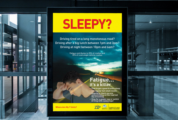 Ergon Energy poster to highlight driving when tired