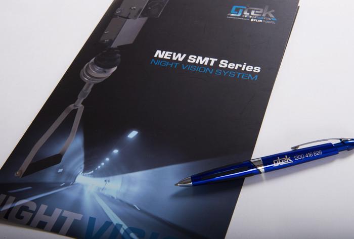 GTEK brochure and biro - part of overall business branding