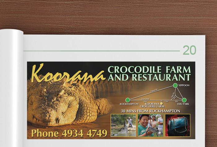 Koorana Crocodile Farm advertisement