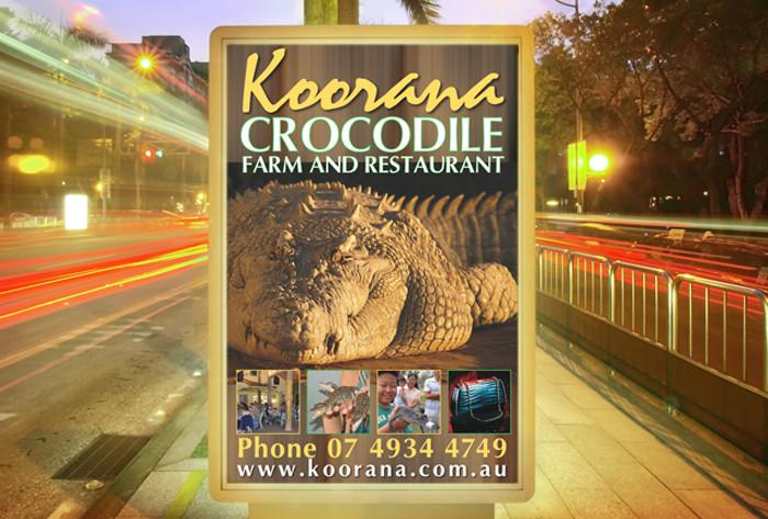 Koorana Crocodile Farm signage