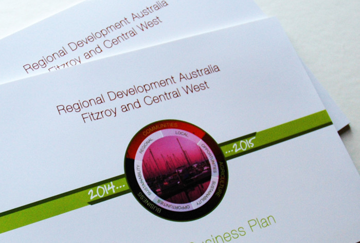 Regional Development Australia Fitzroy and Central West business plan cover