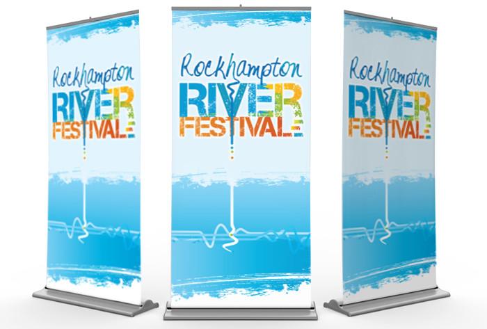 Rockhampton River Festival retractable banners