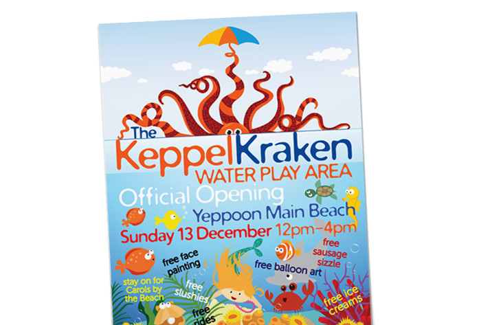 The Keppel Kraken launch poster